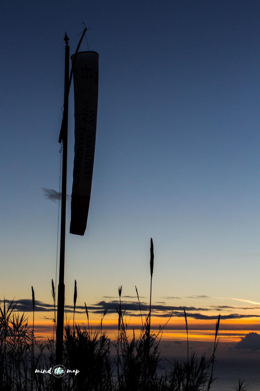 sunset at take-off