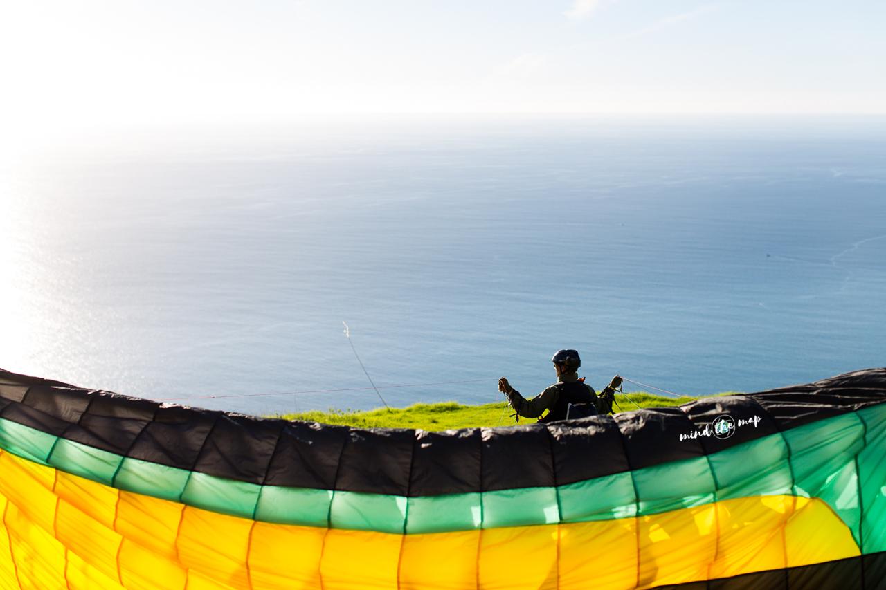 take-off paragliding Madeira