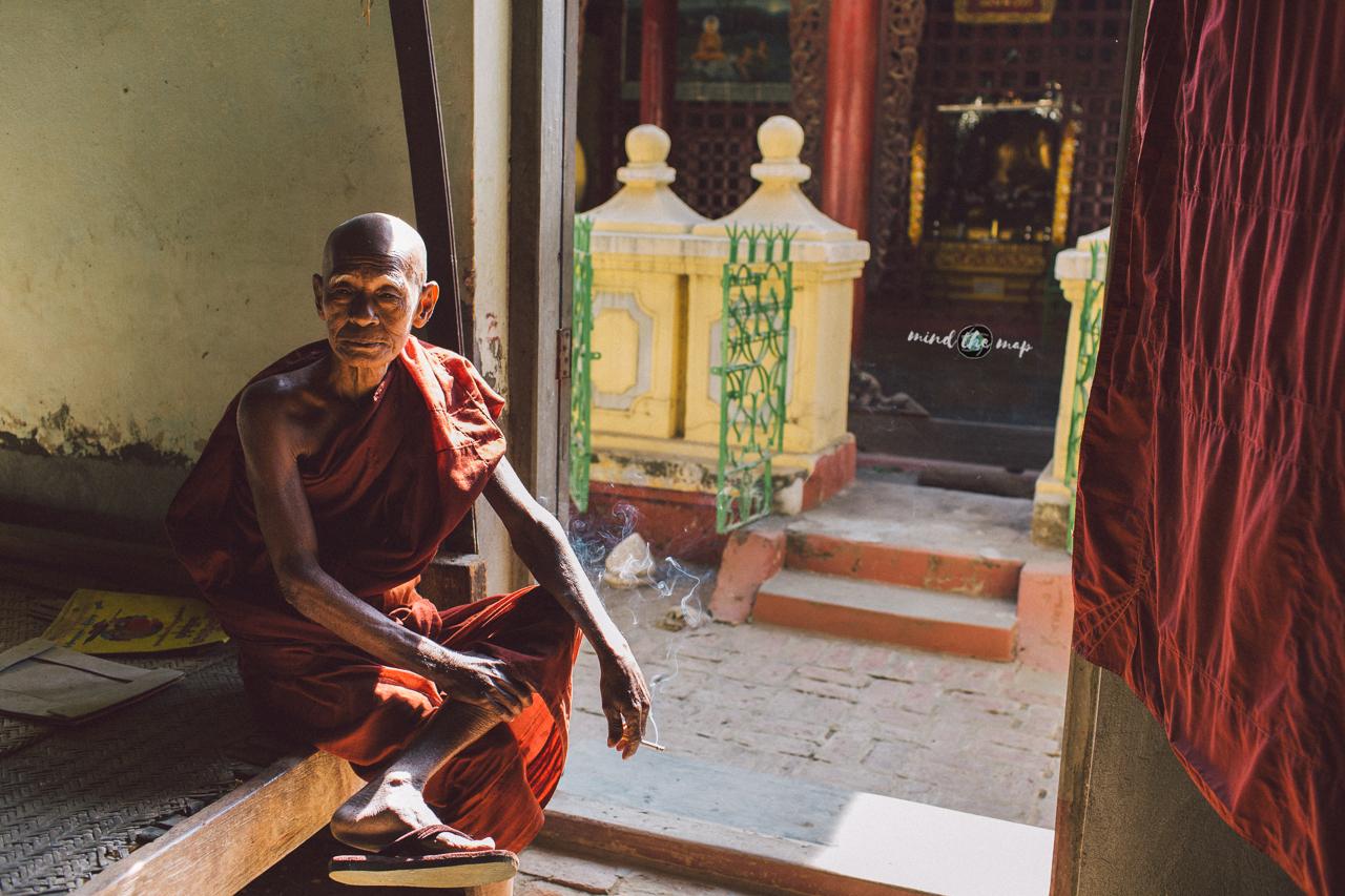 myanmar burma monk monastery
